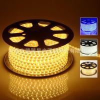单晶 led5050暖白灯带 5050高压灯条 220V软灯条 防水高压灯带