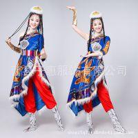 新款藏族舞蹈服成人女藏袍舞台表演服饰蒙古西藏少数民族演出服装
