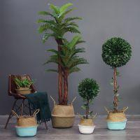 礼品摆件田园大落地仿真植物盆栽摆件北欧家居客厅办公室热带植物