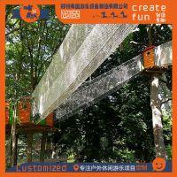 专业设计生产树上蹦床项目 树上绳网游乐设施 绳网探险乐园