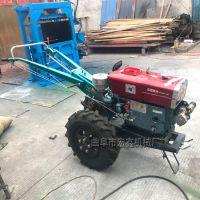 开沟施肥柴油旋耕机 10马力手扶拖拉机 果树开沟施肥机