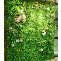 广州丰草厂家直销仿真植物绿值墙草皮装饰墙面壁挂花室内户外装修绿色塑料草