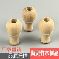 竹木工艺品画轴头 实木画轴配件定做 轴杆书画装裱材料轴头配件