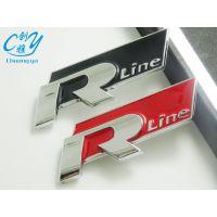 包邮大众运动款R标 Rline金属车贴 Rline车标 高尔夫6/cc尚酷途观