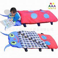 现货供应儿童高档甲虫睡袋 床上用品 宝宝防踢小被窝
