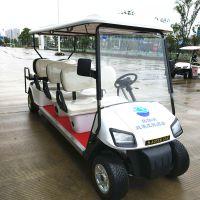 8座高尔夫球场专用车辆四轮电动巡逻车代步车带折叠后座