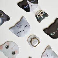 冇心原创  也喵铁镜萌系创意可爱猫迷你金属镜面便携爆款手机配件