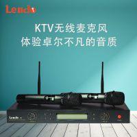 Lendo-K3无线话筒ktv唱歌家用卡拉OKVHF麦克风一拖二无线麦克风