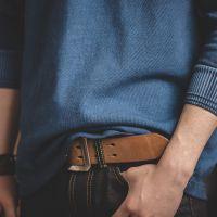 马登工装 320g重磅indigo植物蓝染长袖t恤阿美咔叽靛蓝纯棉打底衫