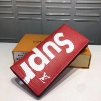 Supreme x Louis Vuitton LV 联名 SUP 红色 长短款皮夹钱包手拿