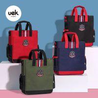 uek儿童补习袋小学生手提包美术袋拎书袋斜挎包男女卡通补课书包