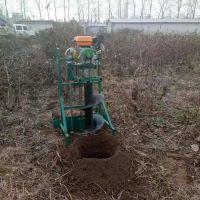 汽油动力植树挖坑机 便携式手推钻眼机 佳鑫手提钻眼机价格