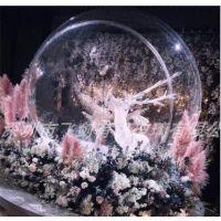 飞剑亚克力婚庆装饰超大透明开口球/商场布置无褶皱水晶半球