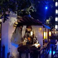 出售杭州绿茶餐厅室内餐饮船网红坐在船上吃饭的木船