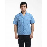 郑州工作服定做厂家供应笑影服饰夏季短袖定制工装纯棉工作服厂服订做