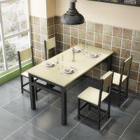 快餐桌椅组合简约餐厅4歺小吃店餐桌椅2饭店汉堡奶茶店简约