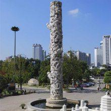 熙和园林古建石雕龙柱产品图片 严格根据图纸手工打造