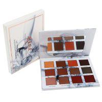 正品眼影盒 12色眼影自带化妆镜眼影盘跨境专供哑光珠光眼影盒