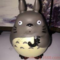 日本动漫龙猫公仔pvc搪胶龙猫公仔支持企业动漫公仔定制LOGO