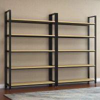 美式铁艺屏风隔断客厅办公书架工业风玄关置物架LOFT展示架柜