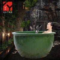 陶瓷洗浴大缸 景德镇做的陶瓷大缸 洗浴中心泡澡大缸 温泉会所缸