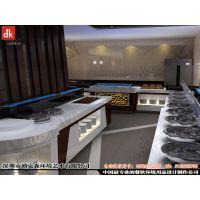 迪克森自助餐厅设计装横、简约现代自助餐台设计功能布局装修效果图、整体效果图酒店后厨设备