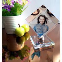 热销水晶魔方照片定做相片制作/旋转水晶立方体6厘米爱情魔方礼品