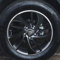 帝图碳纤维装饰轮毂贴纸 划痕个性装饰车贴适合宝骏560 630  730