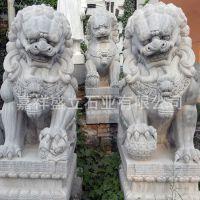 厂家供应门口石雕狮子 大型看门青石狮子 各种动物雕刻