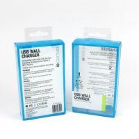 彩色PVC包装盒定制数据线PVC盒定做透明塑料盒 电子产品包装盒
