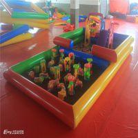 彩色儿童充气沙滩池 多功能充气海洋球池 两用沙地价格 广场公园