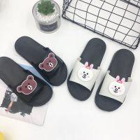 2018新款夏季拖鞋可爱小熊兔子卡通家居防滑浴室拖鞋凉拖一件代发