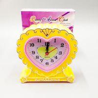 创意床头闹钟 旋钮调节式学生起床钟表 卡爱时尚儿童塑料时钟