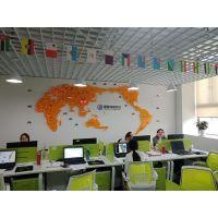 公司大堂前台背景墙装饰 SPC世界业务网点显示屏