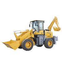 山东挖掘机厂家出售 园林挖掘机装载机 高效性价比多功能两头忙