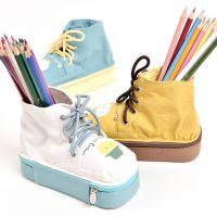 斯普维加文具批发 安哥拉猫小镇马丁靴笔盒韩版学生创意鞋子笔袋