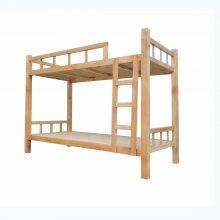 梦航家具员工宿舍松木双层床学生上下床 加粗双层床架子床可定制