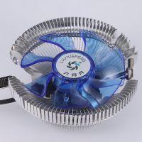 跨境专供多平台发光775/1155/1156AMD静音cpu风扇散热器速卖通