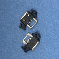 MICRO USB 5PIN AB型防水母座 四脚插板 带双耳螺丝定位孔 大电流-创粤科技