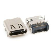 USB 3.1 TYPE-C无后盖24PIN前插后贴DIP+SMT母座/板上型/带定位柱
