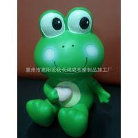 新款创意塑料卡通绿豆蛙人物玩偶 厂家礼品定做 吹塑玩具公仔玩具