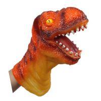 热销外贸6款动物大手偶 仿真恐龙动物头搪胶玩偶 儿童模型玩具