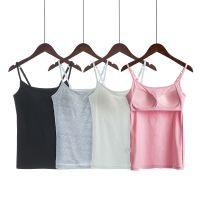 bra无钢圈一体式带胸垫春夏运动文胸内衣瑜伽打底衫小吊带背心女