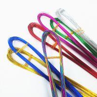 彩色铁丝DIY花艺材料丝袜花钮扣花材料配件铁丝多色50根1把可弯曲