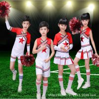 新款六一啦啦操服装 儿童学生表演服 少女时代歌服 团体拉拉队服