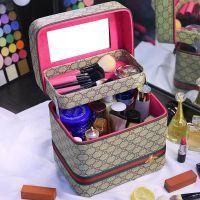 简约手提大便携收纳盒容量品小号韩国化妆包可爱多功能化妆箱多层