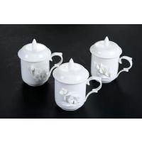 办公室创意个性茶杯 带盖家用手绘茶杯