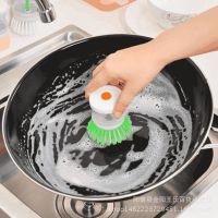 8811液压锅刷  压液洗锅刷 自动加液刷锅厨房小工具 2元店货源