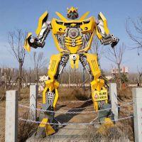 玻璃钢铁艺变形金刚擎天柱大黄蜂雕塑模型摆件商场影院美陈装饰