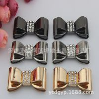 厂家定制金属蝴蝶扣、鞋子金属鞋扣配饰品。高跟鞋镶钻饰品定做